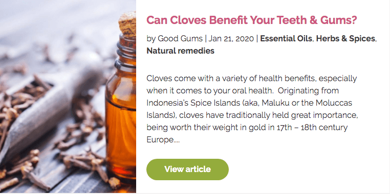 blog about teeth and gums