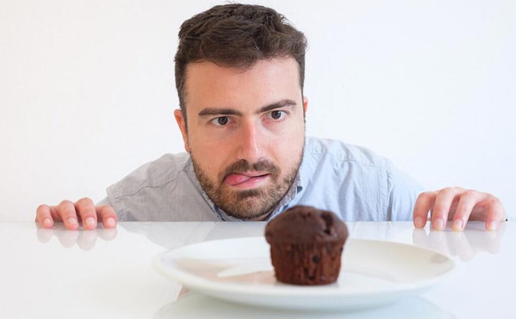Man with sugar cravings